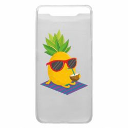 Чехол для Samsung A80 Pineapple with coconut