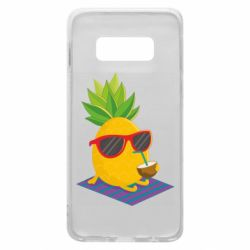 Чехол для Samsung S10e Pineapple with coconut