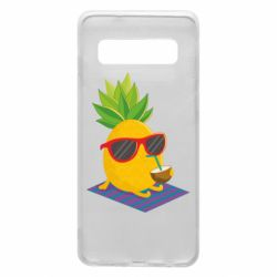 Чехол для Samsung S10 Pineapple with coconut