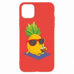 Чехол для iPhone 11 Pineapple with coconut