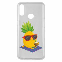 Чехол для Samsung A10s Pineapple with coconut