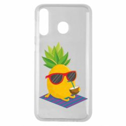 Чехол для Samsung M30 Pineapple with coconut
