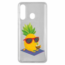 Чехол для Samsung M40 Pineapple with coconut