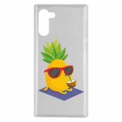 Чехол для Samsung Note 10 Pineapple with coconut