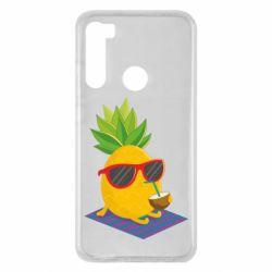 Чехол для Xiaomi Redmi Note 8 Pineapple with coconut