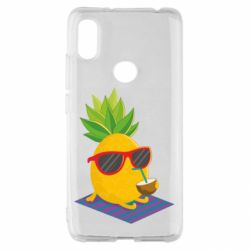 Чехол для Xiaomi Redmi S2 Pineapple with coconut
