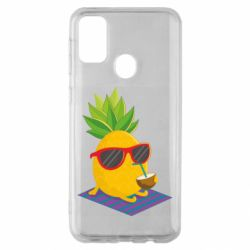 Чехол для Samsung M30s Pineapple with coconut