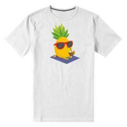 Чоловіча стрейчева футболка Pineapple with coconut
