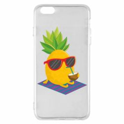 Чехол для iPhone 6 Plus/6S Plus Pineapple with coconut