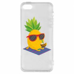 Чехол для iPhone5/5S/SE Pineapple with coconut