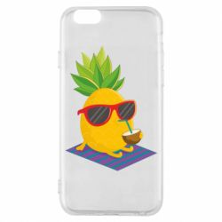 Чехол для iPhone 6/6S Pineapple with coconut