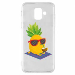 Чехол для Samsung A6 2018 Pineapple with coconut