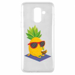 Чехол для Samsung A6+ 2018 Pineapple with coconut
