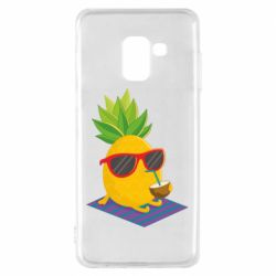Чехол для Samsung A8 2018 Pineapple with coconut