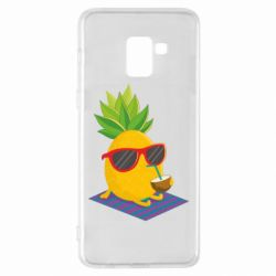 Чехол для Samsung A8+ 2018 Pineapple with coconut