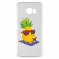 Чехол для Samsung S7 EDGE Pineapple with coconut