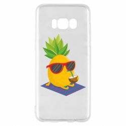 Чехол для Samsung S8 Pineapple with coconut