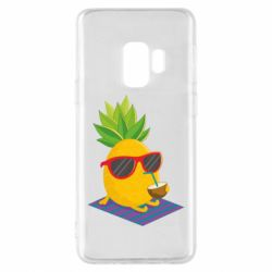 Чехол для Samsung S9 Pineapple with coconut