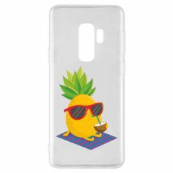 Чехол для Samsung S9+ Pineapple with coconut