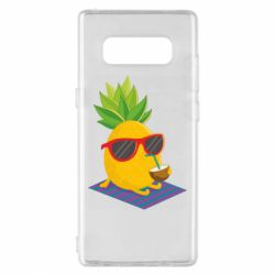 Чехол для Samsung Note 8 Pineapple with coconut