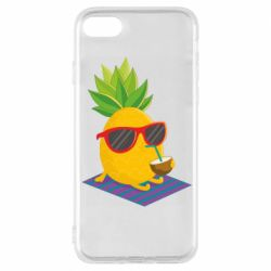Чехол для iPhone 8 Pineapple with coconut