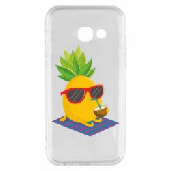 Чехол для Samsung A3 2017 Pineapple with coconut