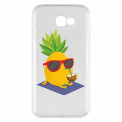Чехол для Samsung A7 2017 Pineapple with coconut