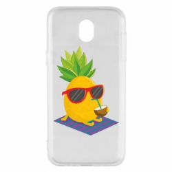 Чехол для Samsung J5 2017 Pineapple with coconut