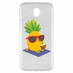 Чехол для Samsung J7 2017 Pineapple with coconut