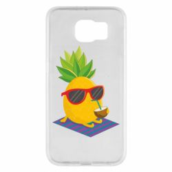 Чехол для Samsung S6 Pineapple with coconut