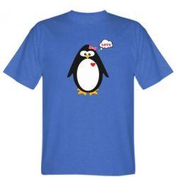 Мужская футболка Пингвин девочка - FatLine