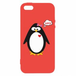 Купить Парные для влюбленных, Чехол для iPhone5/5S/SE Пингвин девочка, FatLine