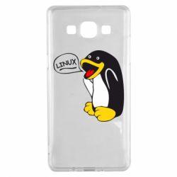 Чехол для Samsung A5 2015 Пингвин Линукс