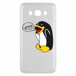 Чехол для Samsung J5 2016 Пингвин Линукс