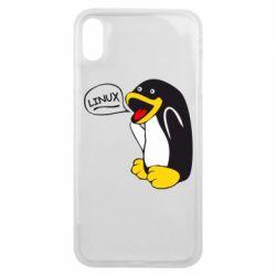 Чехол для iPhone Xs Max Пингвин Линукс