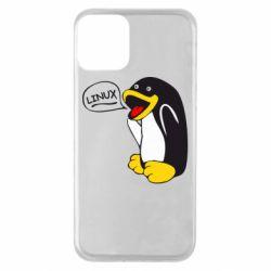 Чехол для iPhone 11 Пингвин Линукс
