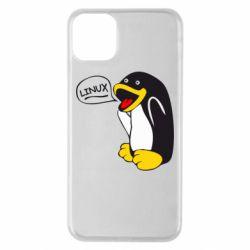 Чехол для iPhone 11 Pro Max Пингвин Линукс