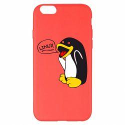 Чехол для iPhone 6 Plus/6S Plus Пингвин Линукс