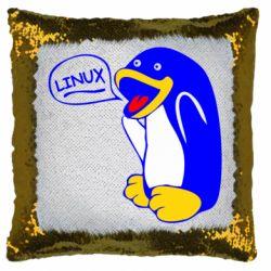 Подушка-хамелеон Пингвин Линукс