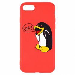 Чехол для iPhone 8 Пингвин Линукс