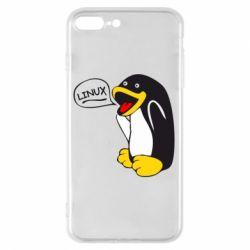Чехол для iPhone 8 Plus Пингвин Линукс