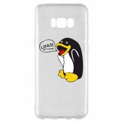 Чехол для Samsung S8+ Пингвин Линукс