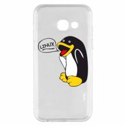 Чехол для Samsung A3 2017 Пингвин Линукс