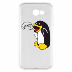 Чехол для Samsung A7 2017 Пингвин Линукс