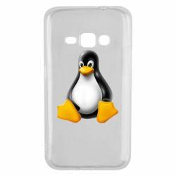 Чохол для Samsung J1 2016 Пингвин Linux