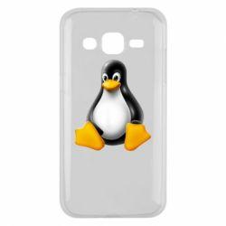 Чохол для Samsung J2 2015 Пингвин Linux