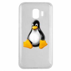 Чохол для Samsung J2 2018 Пингвин Linux