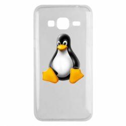 Чохол для Samsung J3 2016 Пингвин Linux