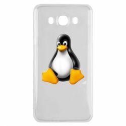 Чохол для Samsung J7 2016 Пингвин Linux