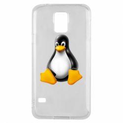 Чохол для Samsung S5 Пингвин Linux